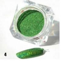 Зелена пудра пигмент с холограмен ефект