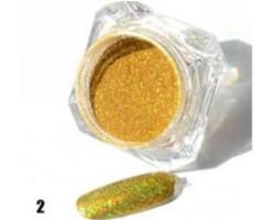 Златна пудра пигмент с холограмен ефект