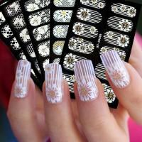 Стикери за нокти бяла дантела - изберете модел