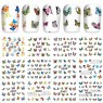 12бр ваденки цветни пеперуди  А339