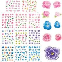 12бр ваденки малки цветя BLE2017