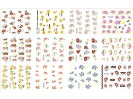 12бр ваденки малки цветя TCF183