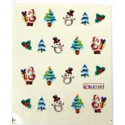 Коледни ваденки за нокти  BLE 1581
