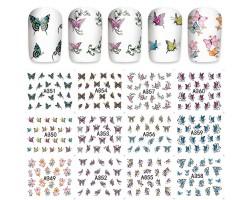 12бр ваденки цветни пеперуди  А351