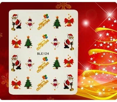 Коледни ваденки за нокти 124