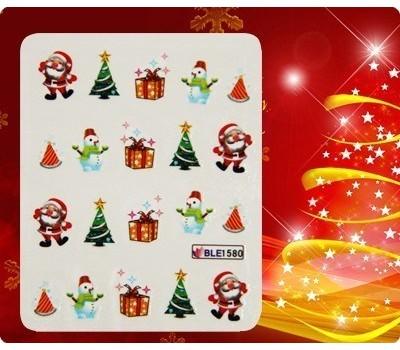 Коледни ваденки за нокти 1580