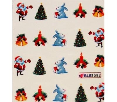Коледни ваденки за нокти 1582