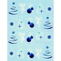 Коледни ваденки за нокти 1754