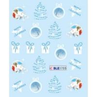 Коледни ваденки за нокти 1755