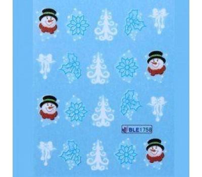 Коледни ваденки за нокти 1758
