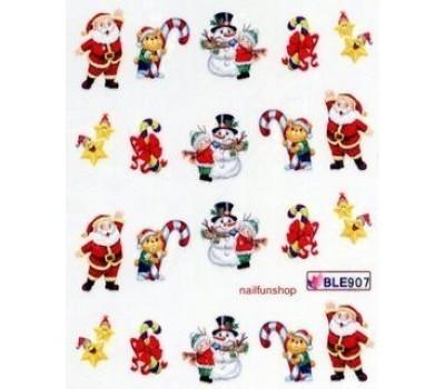 Коледни ваденки за нокти 907