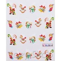 Коледни ваденки за нокти 914