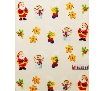 Коледни ваденки за нокти 916