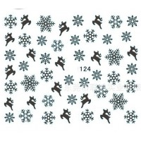 Коледни ваденки за нокти  S124