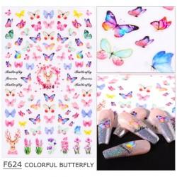 Стикери розови пеперуди