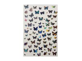 Стикери холограмни пеперуди - големи