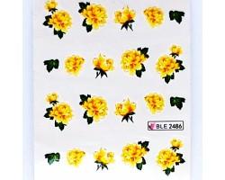Ваденки за нокти Цветя BLE2486