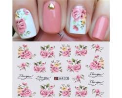 Ваденки за нокти Цветя A403