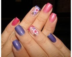 Ваденки за нокти Цветя BLE 1023