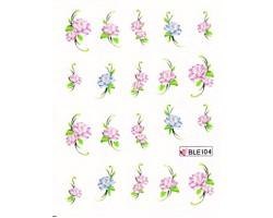 Ваденки за нокти Цветя BLE 104