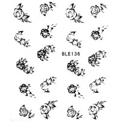 Ваденки за нокти Цветя BLE 136