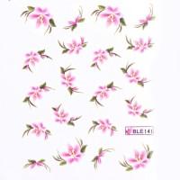 Ваденки за нокти Цветя 141