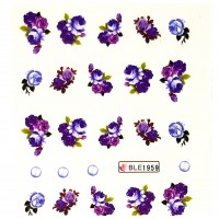 Ваденки за нокти Цветя BLE 1959