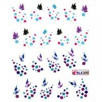 Ваденки за нокти Пеперуди BLE 305
