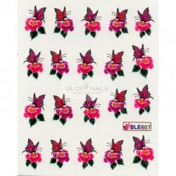 Ваденки за нокти Цветя BLE 607