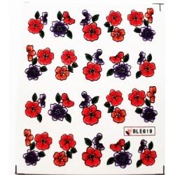 Ваденки за нокти Цветя BLE 619