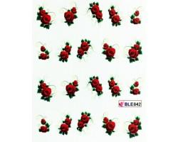 Ваденки за нокти Цветя BLE 842