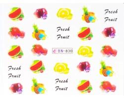 Ваденки за нокти  плодчета  BN 830