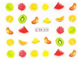 Ваденки за нокти  плодчета BN 833
