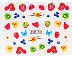 Ваденки за нокти  плодчета  BN 836