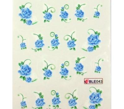 Ваденки за нокти Цветя BLE  043