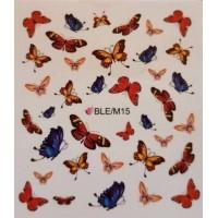 Ваденки за нокти Пеперуди 15