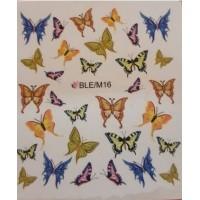 Ваденки за нокти Пеперуди 16