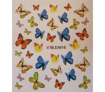 Ваденки за нокти Пеперуди 18