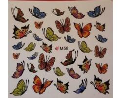 Ваденки за нокти Пеперуди 58