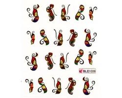 Ваденки за нокти Пеперуди BLE 1039