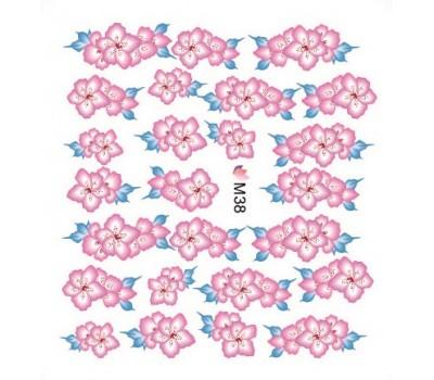 Ваденки за нокти Цветя 038