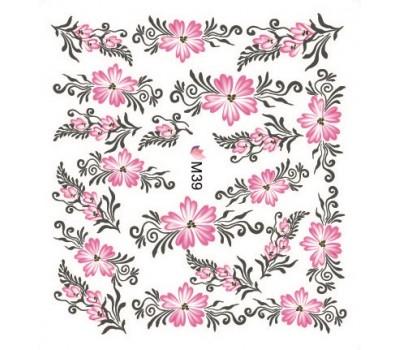 Ваденки за нокти Цветя M 039