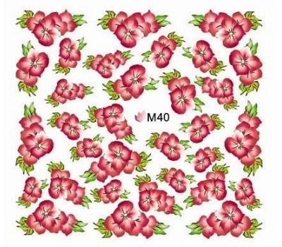 Ваденки за нокти Цветя 040