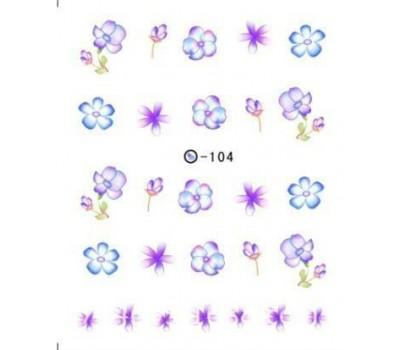Ваденки за нокти Цветя 104
