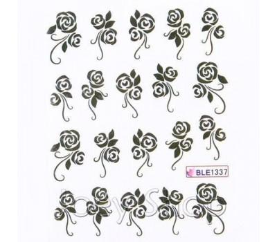 Ваденки за нокти Цветя BLE 1337