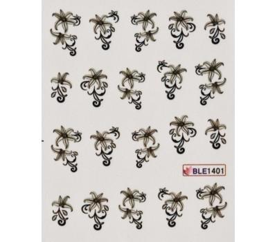 Ваденки за нокти Цветя BLE 1401