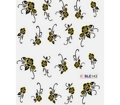 Ваденки за нокти Цветя BLE 143