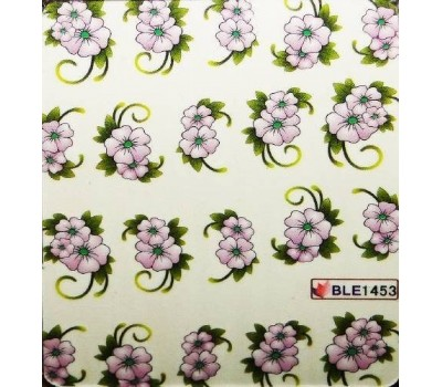 Ваденки за нокти Цветя BLE 1453