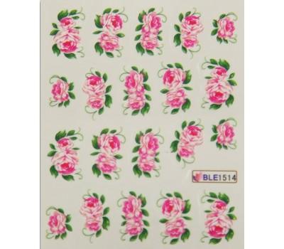 Ваденки за нокти Цветя BLE 1514