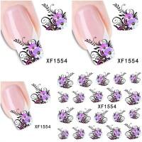 Ваденки за нокти Цветя 1554